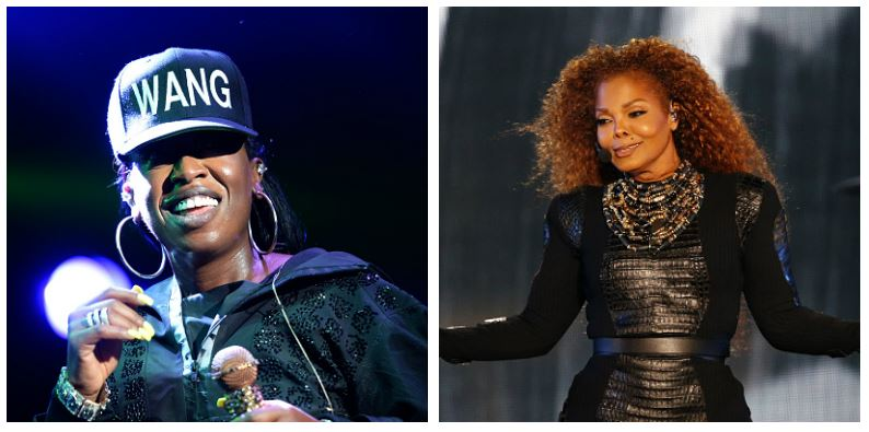 A composite image of Missy Elliott and Janet Jackson