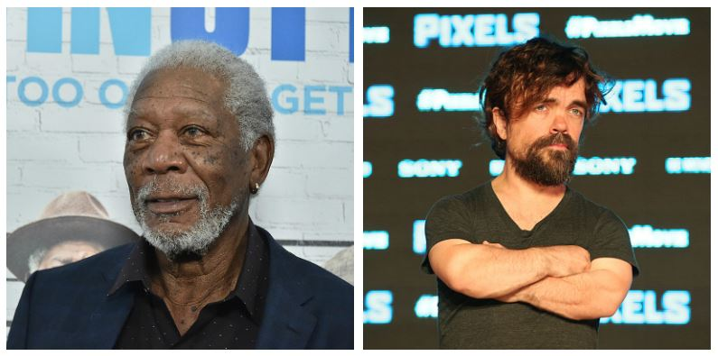 Morgan Freeman and Peter Dinklage composite image
