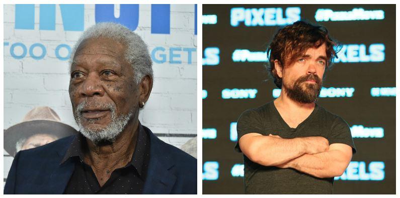 Morgan Freeman and Peter Dinklage composite image