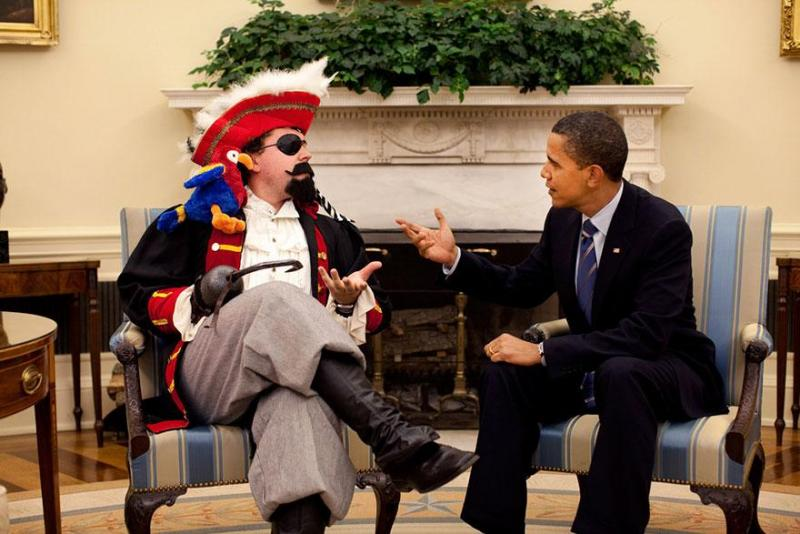 A photo tweeted by Obama's reelection campaign on International Talk Like a Pirate Day