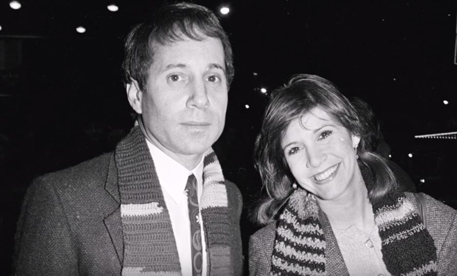 Paul Simon and Carrie Fisher