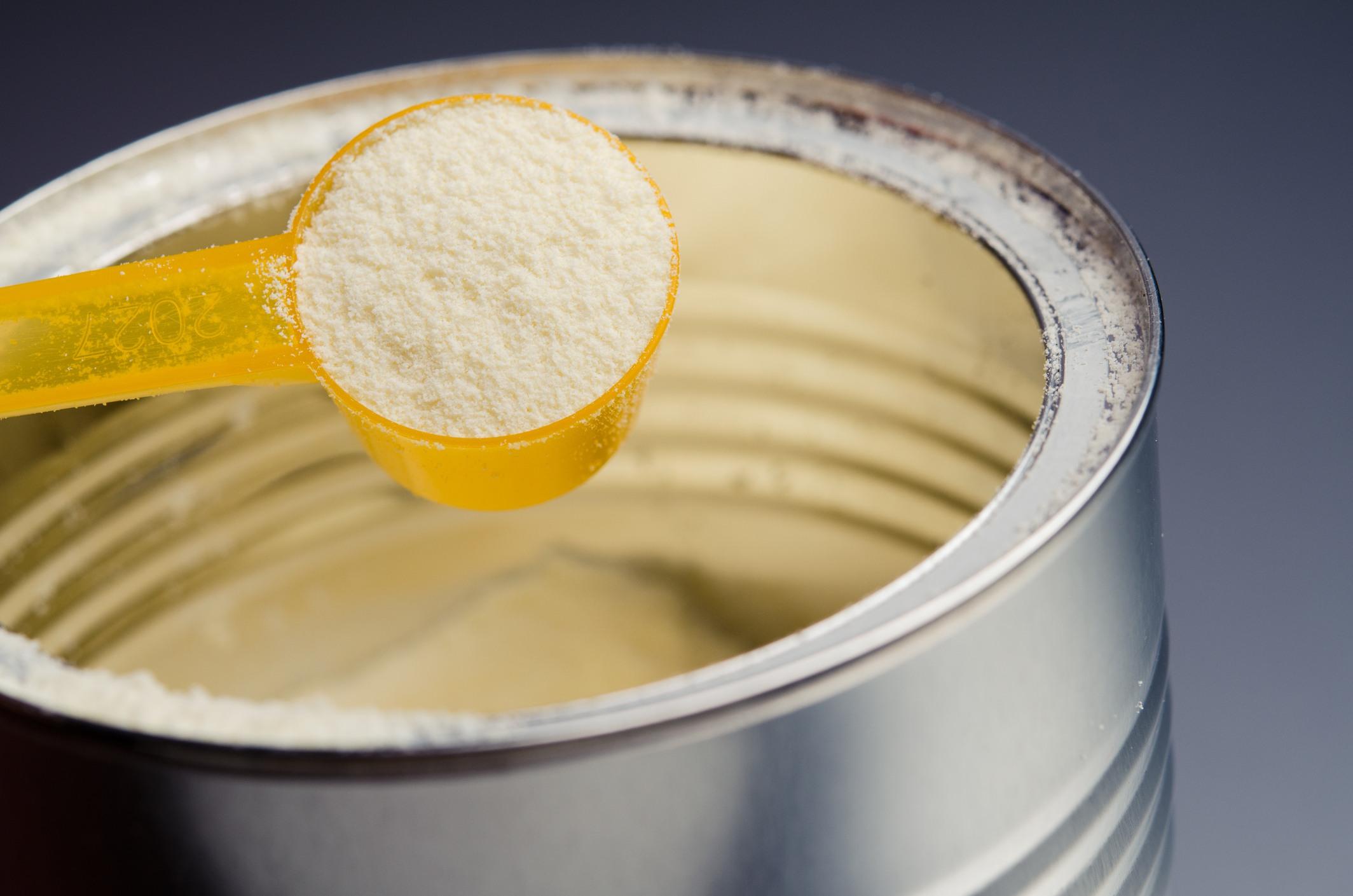 Powdered milk or infant formula
