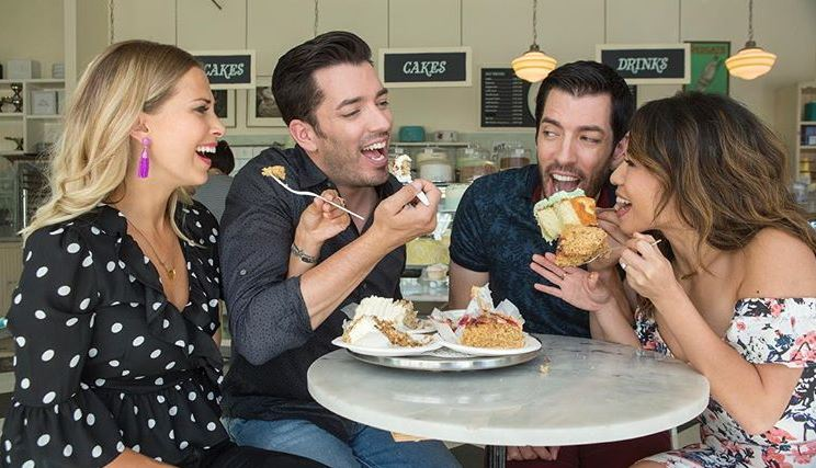 Property Brothers tasting cake