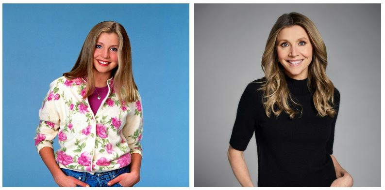 Sarah Chalke then and now