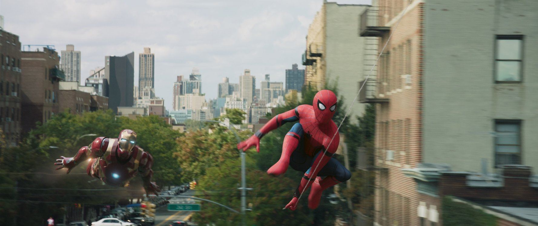 Iron Man and Spider-Man in Spider-Man: Homecoming