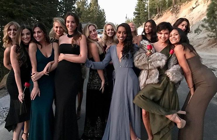 Seinne Fleming with her fellow Bachelor contestants