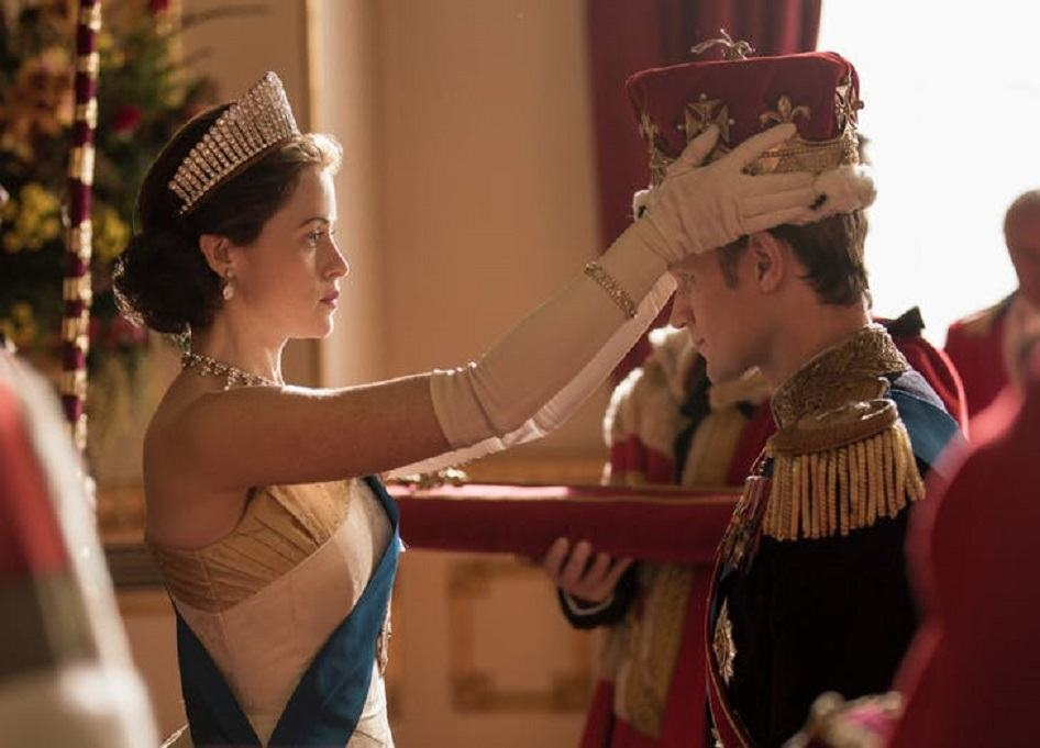 Claire Foy and Matt Smith on The Crown