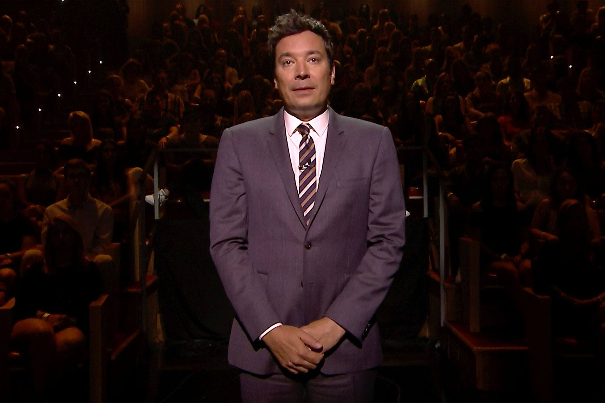 Jimmy Fallon in front of an audience on The Tonight ShowJimmy Fallon in front of an audience on The Tonight Show