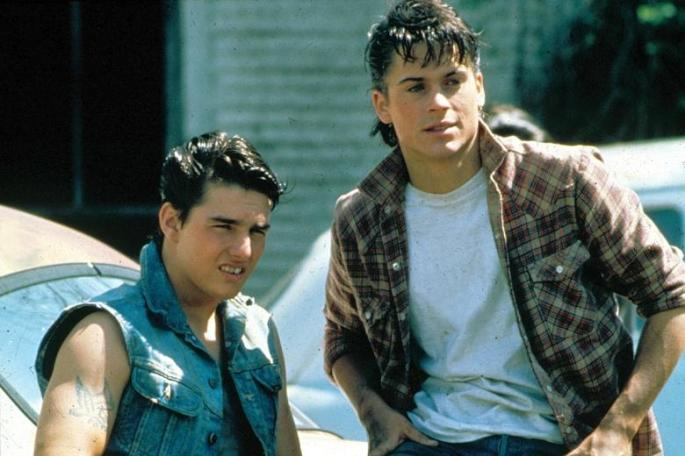 Tom Cruise and Rob Lowe in The Outsiders