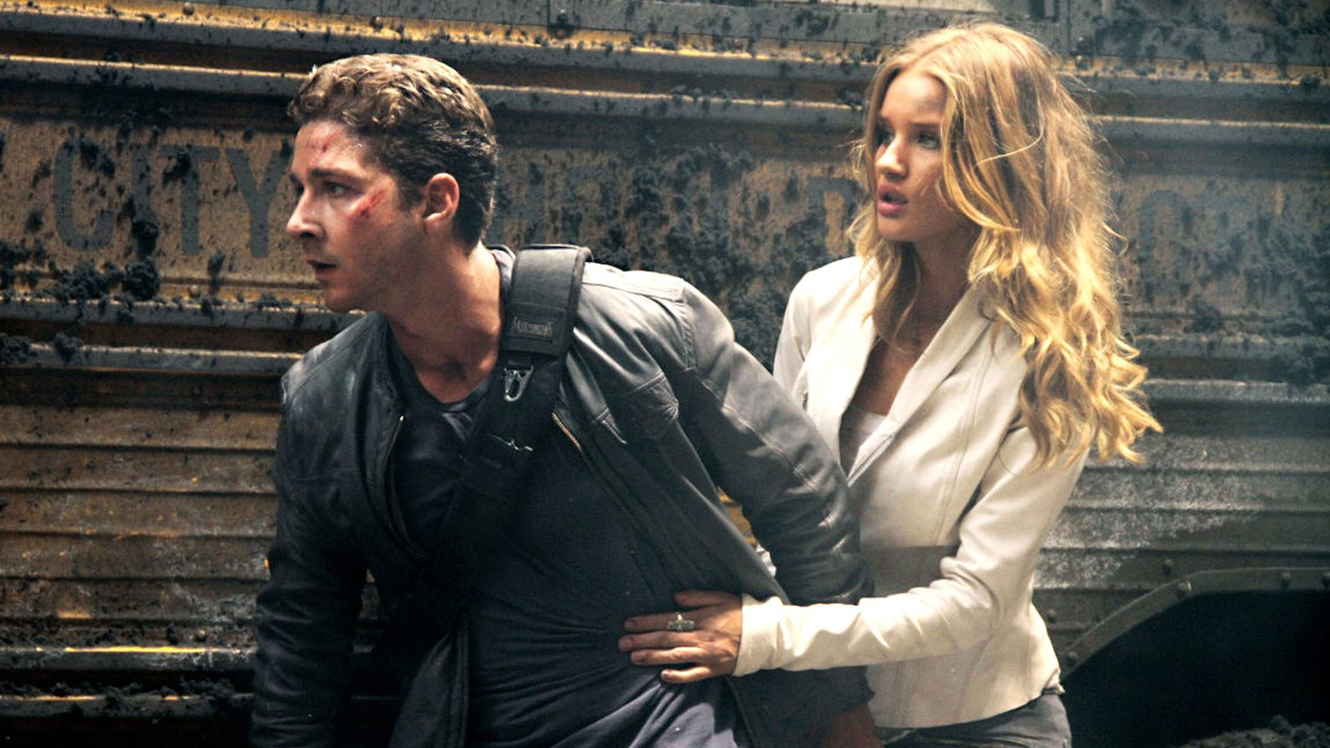 Shia LaBeouf and Rosie Huntington-Whiteley in Transformers: Dark of the Moon