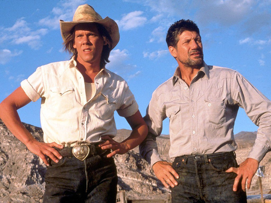 Kevin Bacon and Fred Wars in Tremors