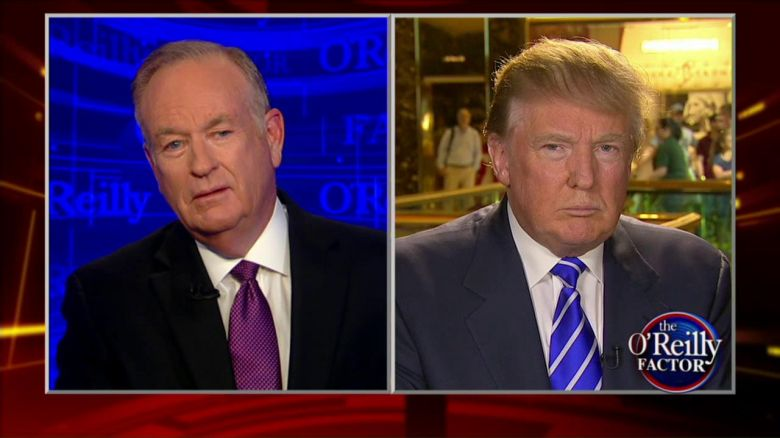 Trump on The O'Reilly Factor speaking to Bill O'Reilly