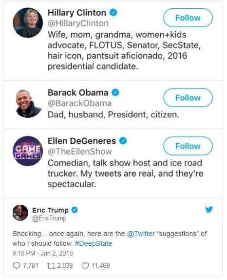 a screenshot of eric trump twitter