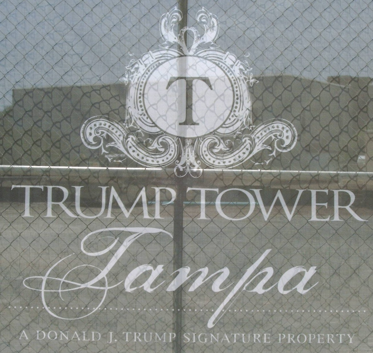Trump Tower Tampa sign