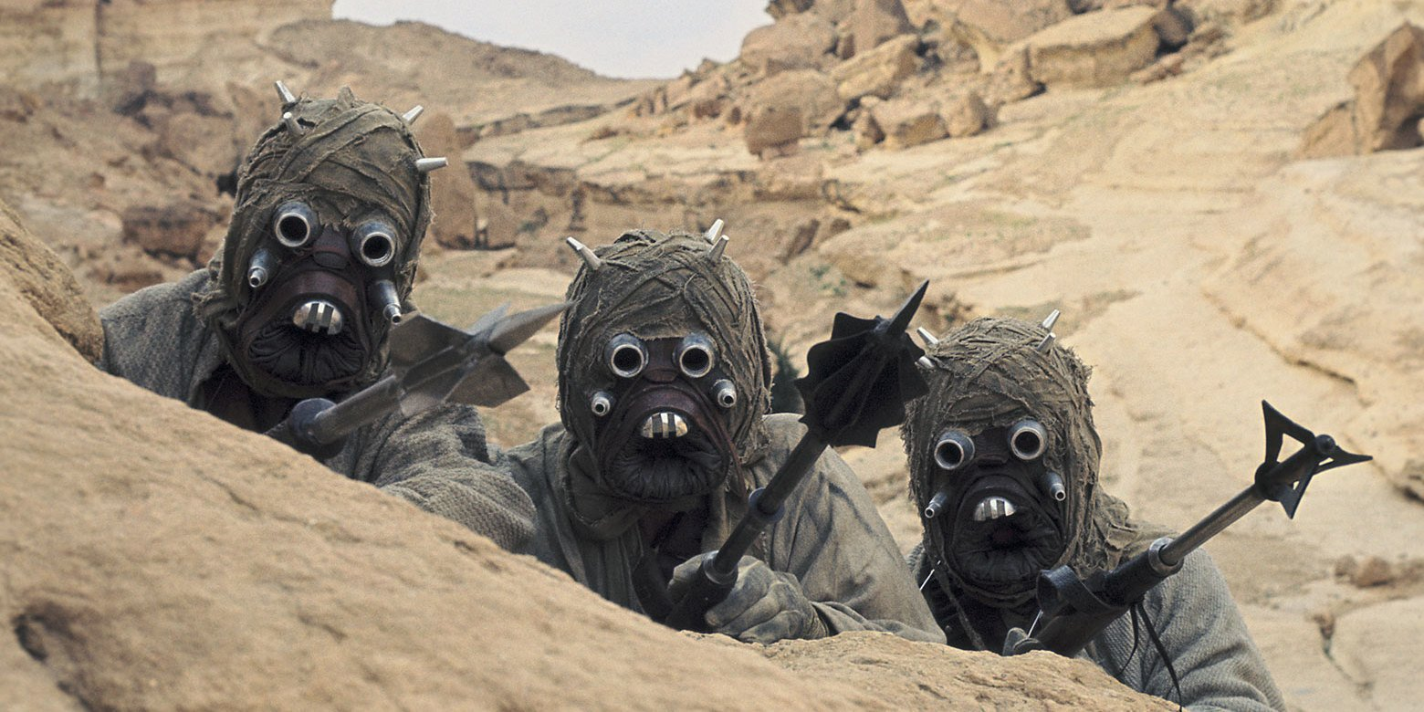 The Tusken Raiders Sand People in Star Wars
