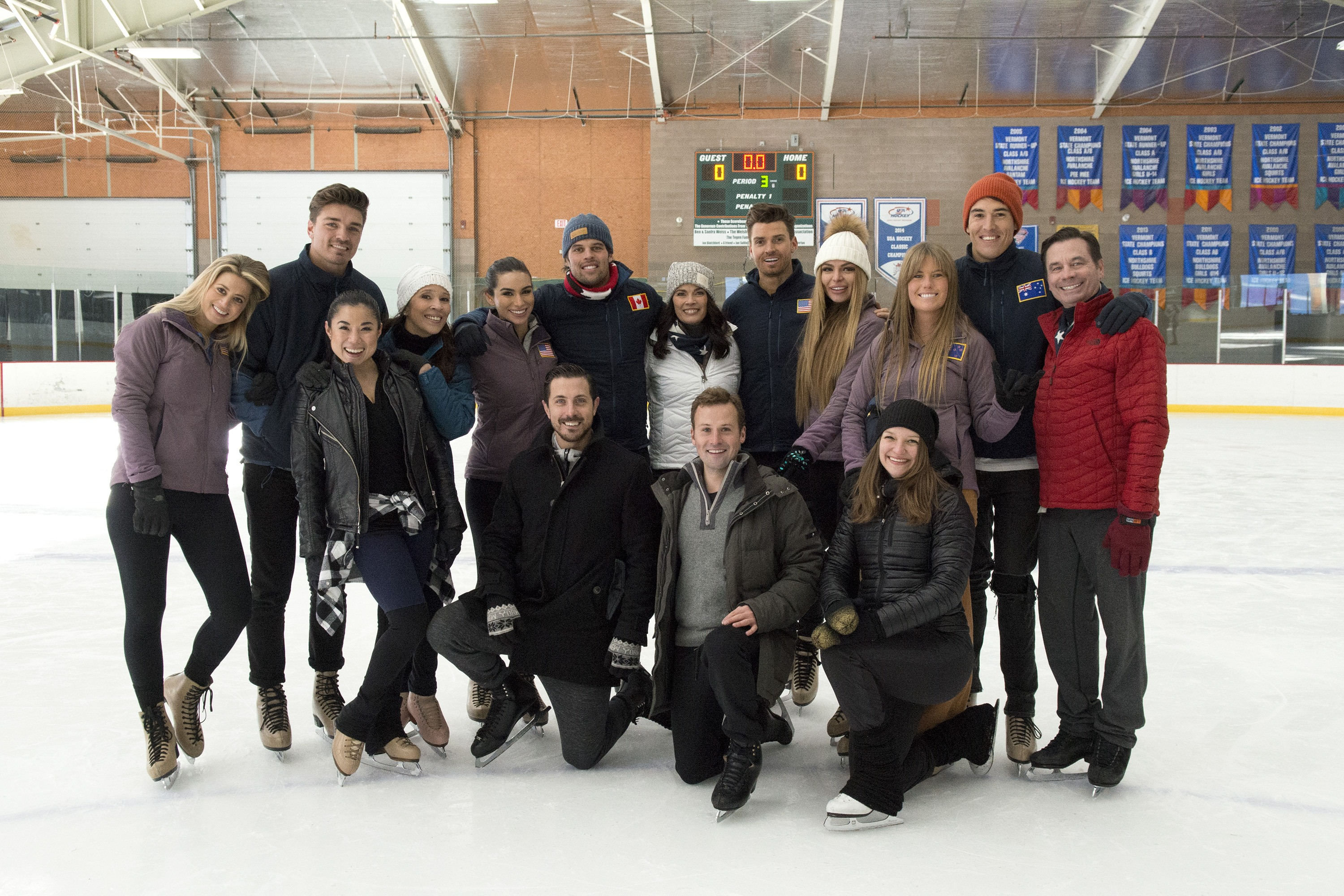 The cast of Bachelor Winter Games