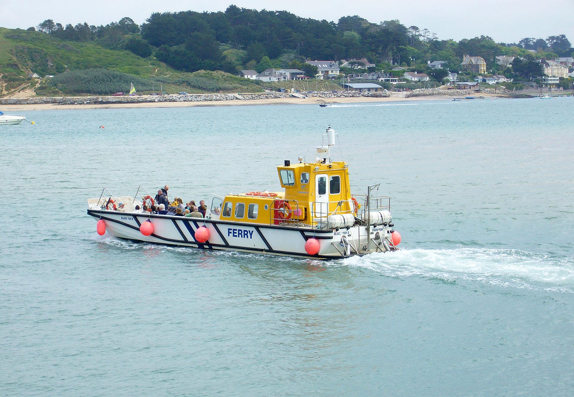 ferry approaching Rock, England