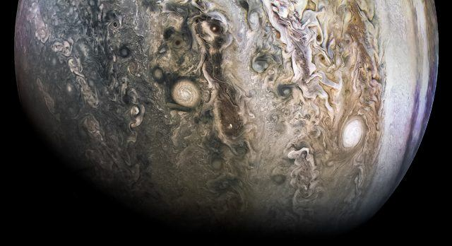 A look at one of Jupiter's poles.