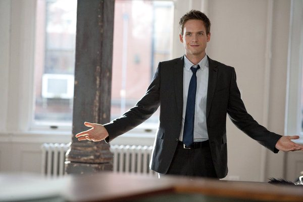 """SUITS -- """"Pilot"""" -- Pictured: Patrick J. Adams as Mike Ross -- Photo by: David Giesbrecht/USA Network"""