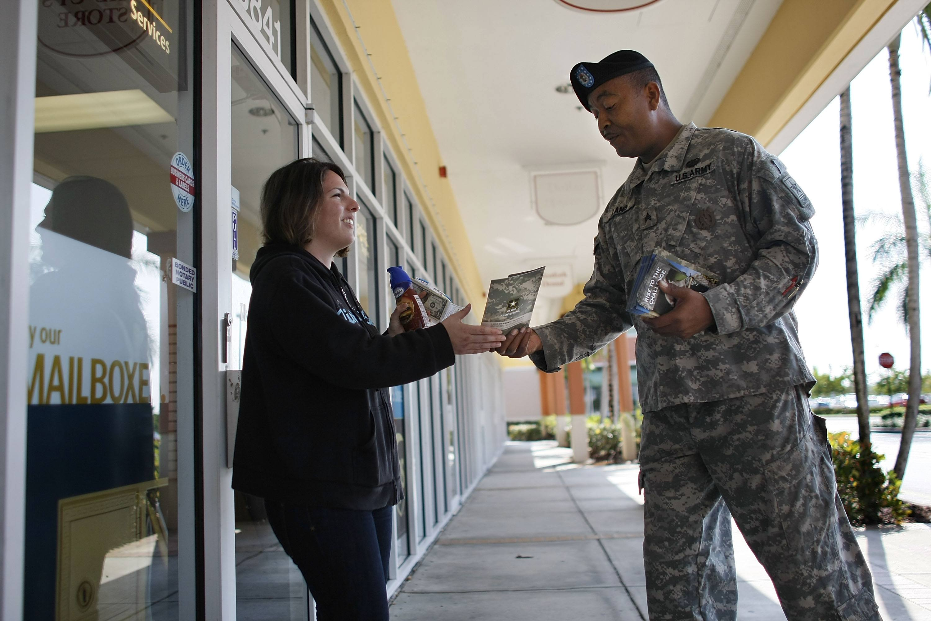 Unemployment Leads To Rise In Military Recruitment