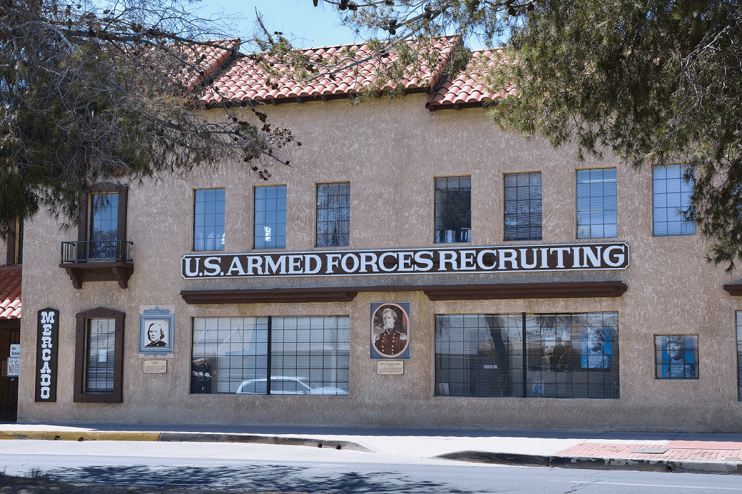 Barstow, Usa - July 26, 2017: US armed forces recruiting station on Barstow, California.
