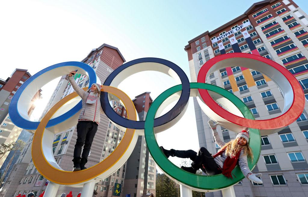 Athletes at Olympic village