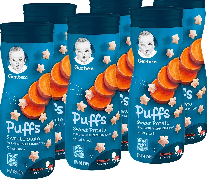 Baby puffs cereal at Walmart