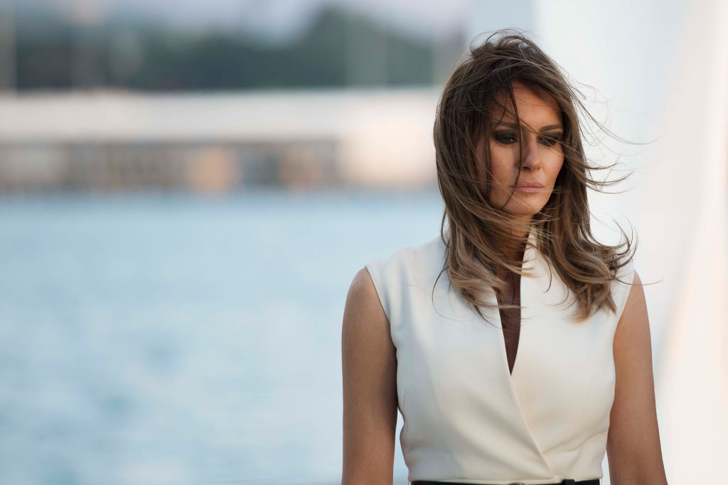 US First Lady Melania Trump visits to the USS Arizona Memoria