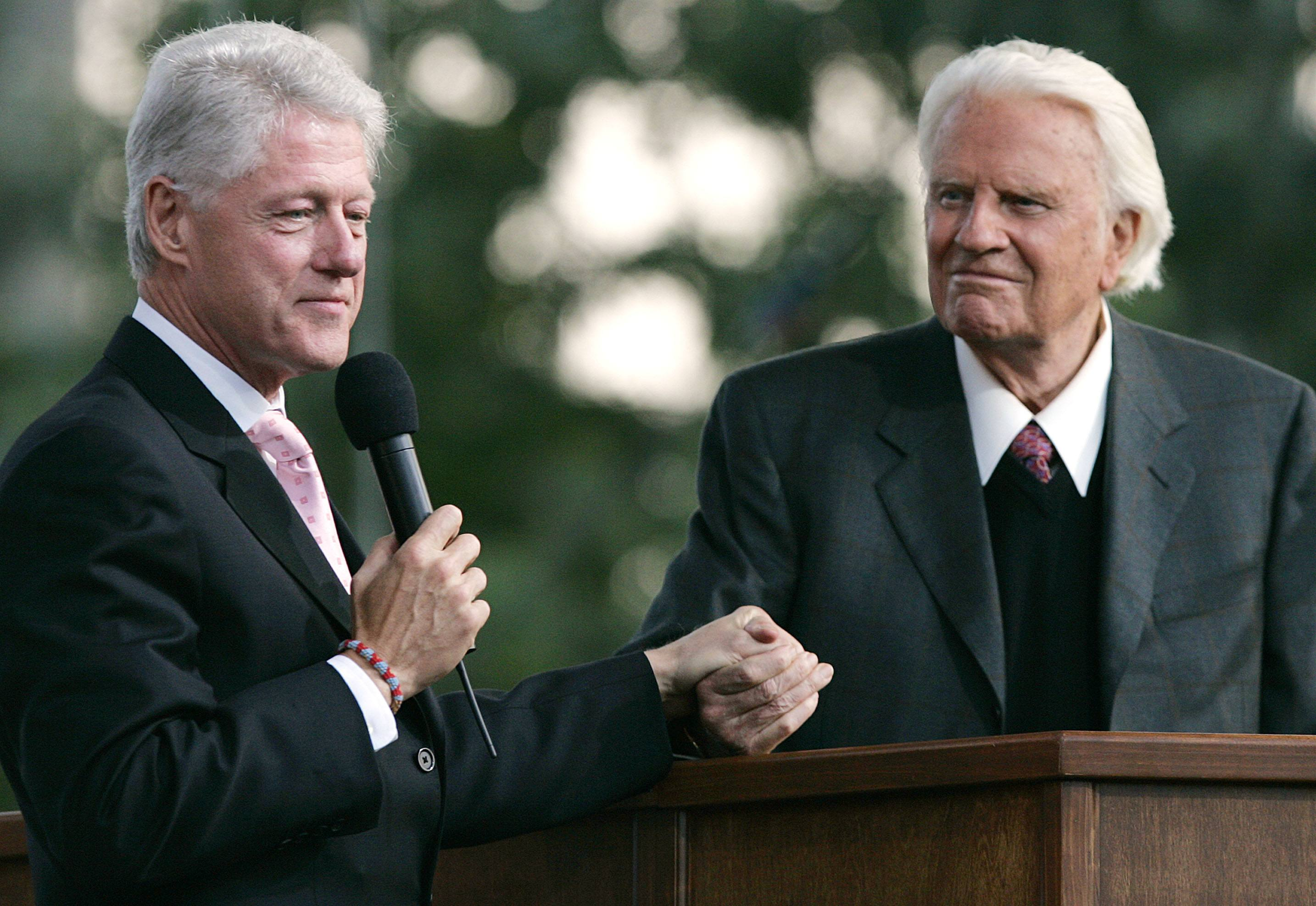 Billy Graham and Bill Clinton