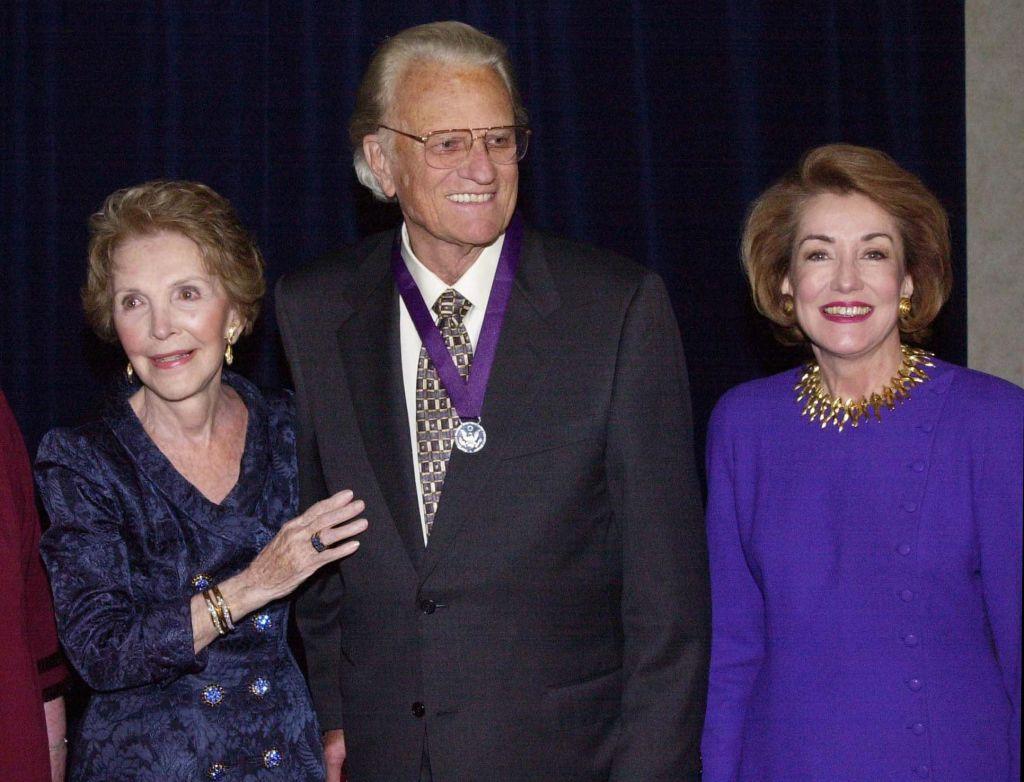 Nancy Reagan and Billy Graham