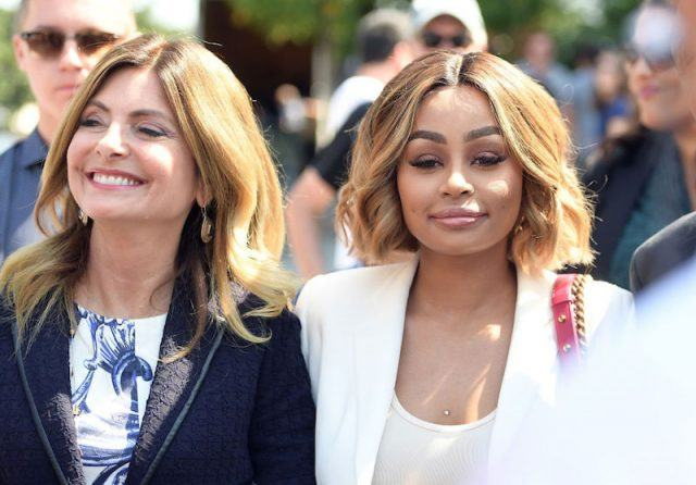 Lisa Bloom walking with Blac Chyna.