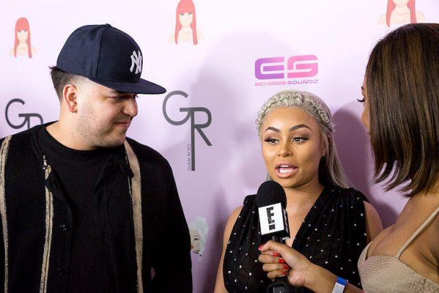 Rob Kardashian and Blac Chyna arrive at her Blac Chyna Birthday Celebration.