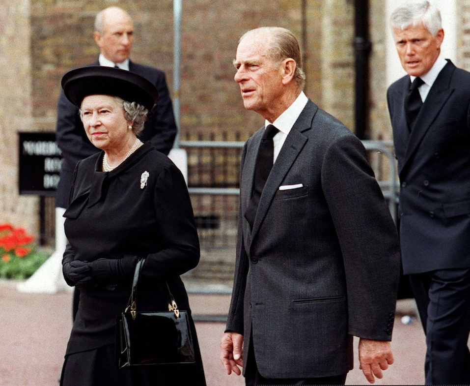 Britain's Queen Elizabeth II and her husband, Duke of Edinburgh, arrive 05 September at Saint James's Palace in London