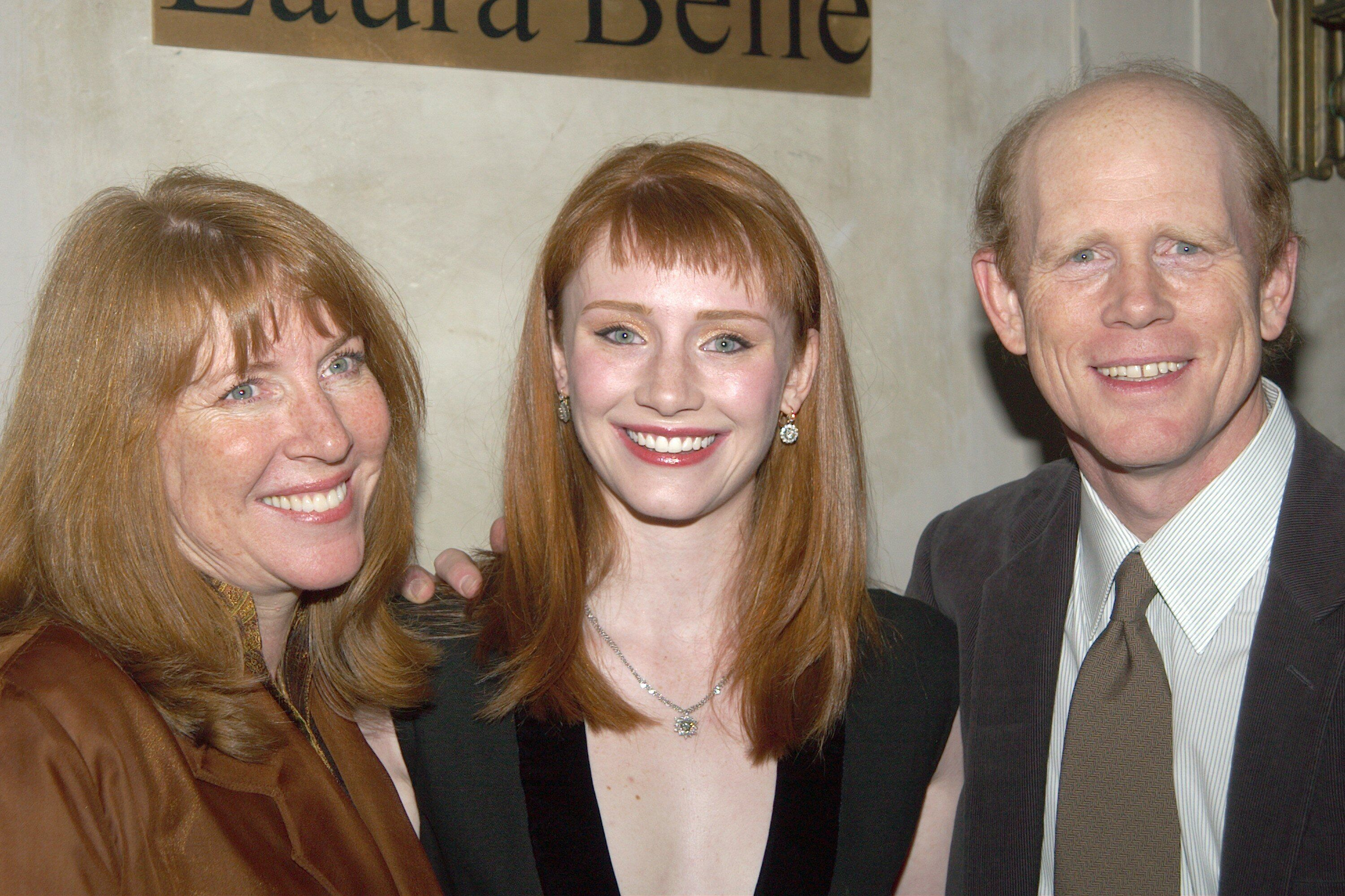 Bryce Dallas Howard with her parents Ron and Cheryl