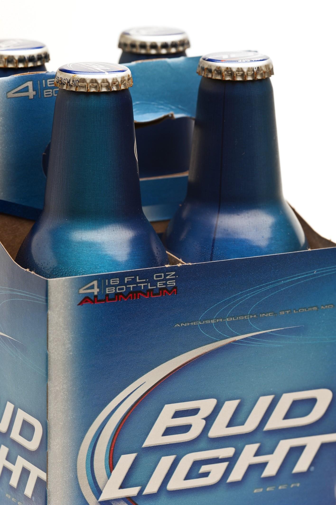 Four bottles of Bud Ligth Beer