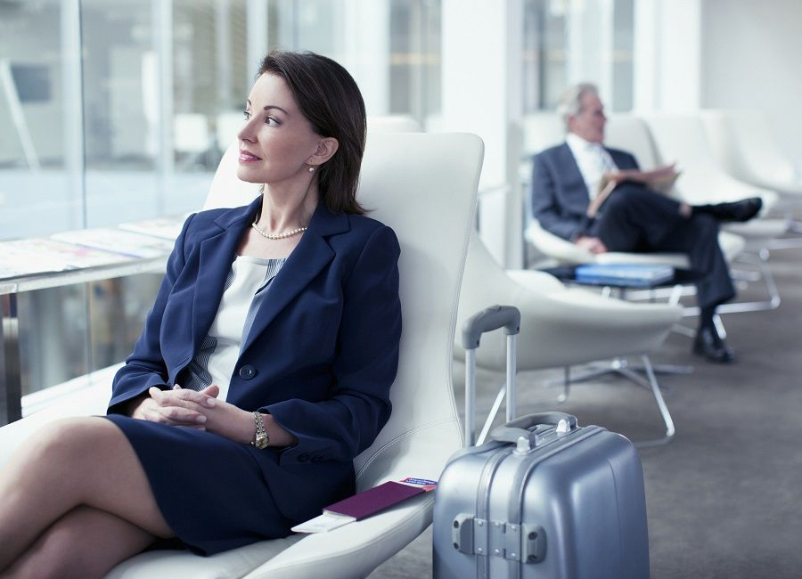 Businesswoman waiting in airport