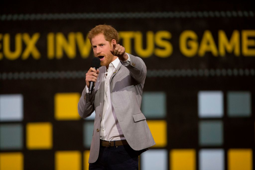 Prince Harry speaks during the closing ceremonies for the Invictus Games in Toronto