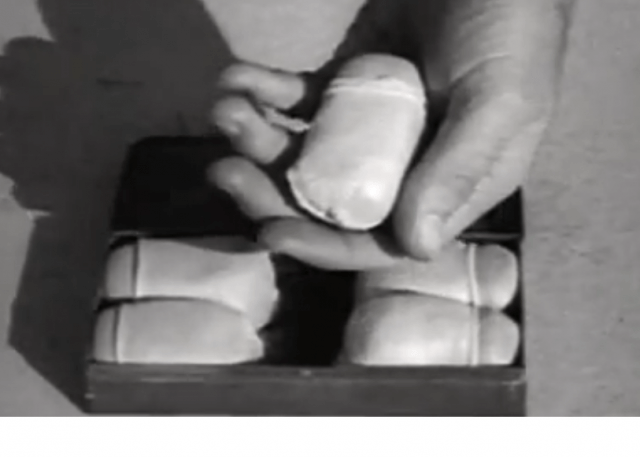 Caccolube is shown in a soldiers hand. Spy Weapons