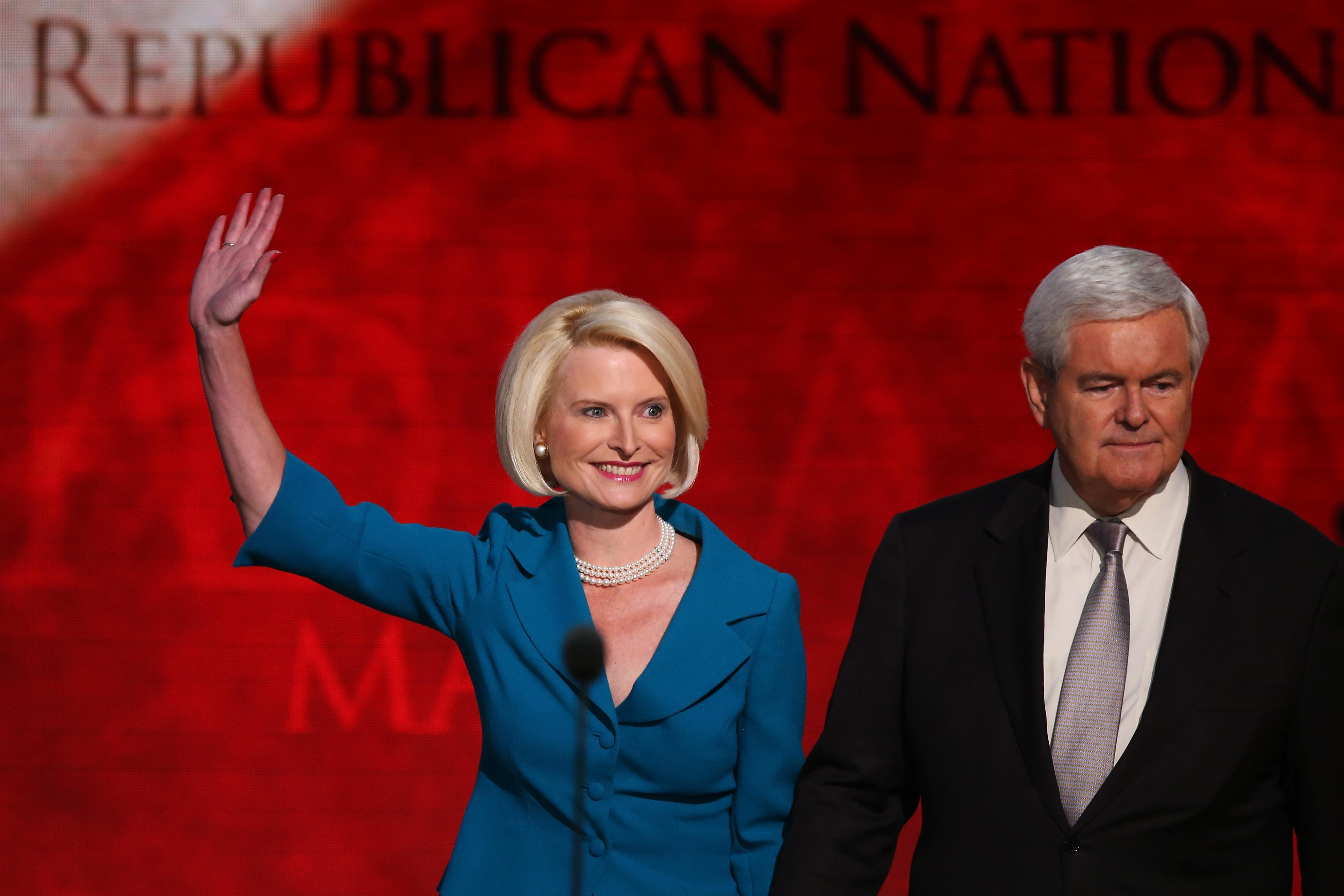Newt Gingrich and Wife Callista at Republican National Convention