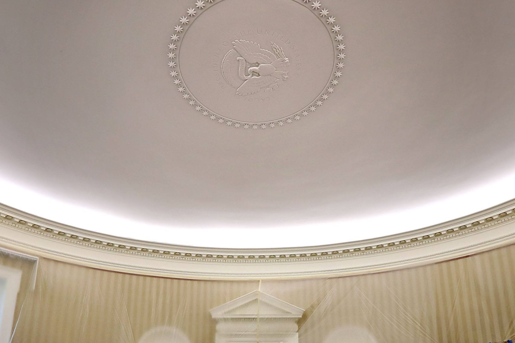 Oval Office ceiling