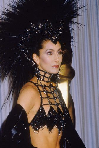 American actor and singer Cher attends the Academy Awards ceremony