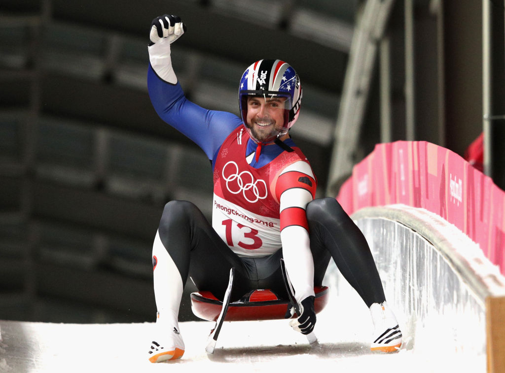 Chris Mazdzer during the Luge
