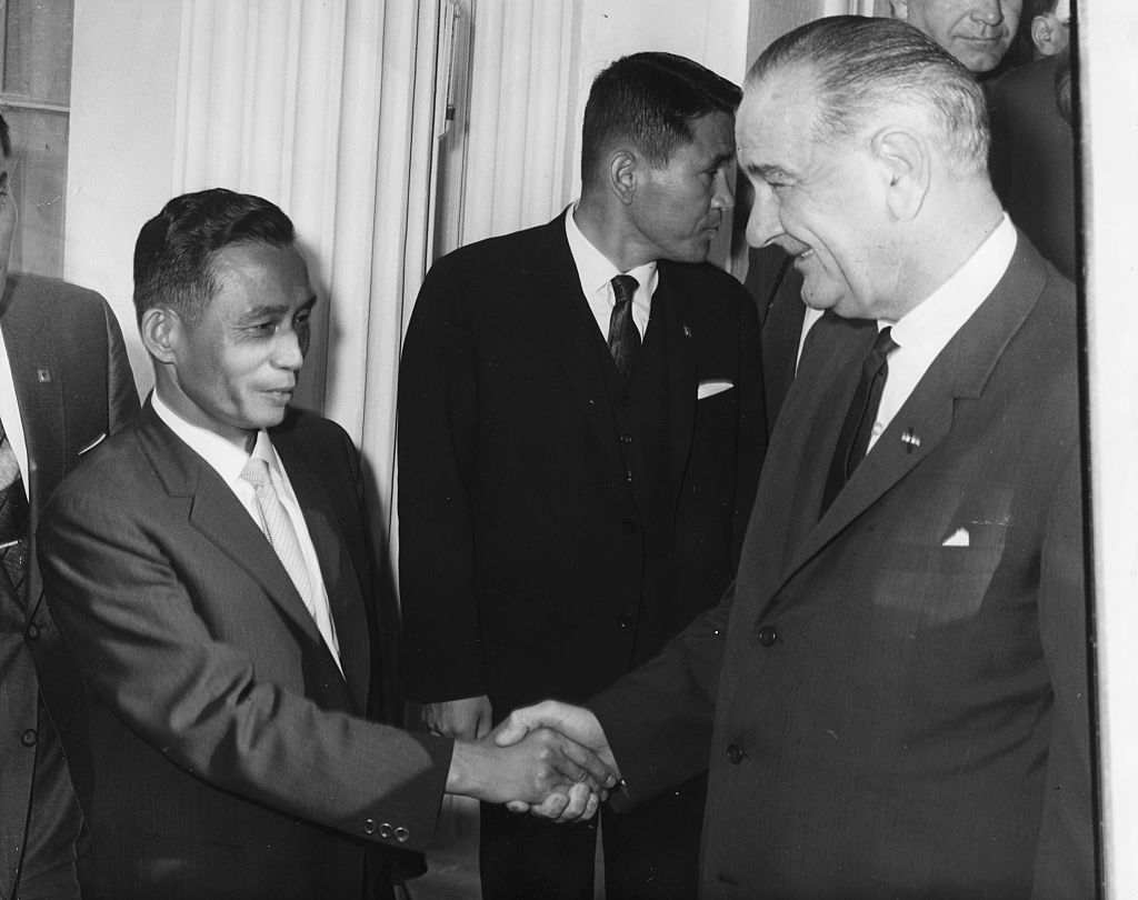Chung Hee Park And Lyndon B. Johnson