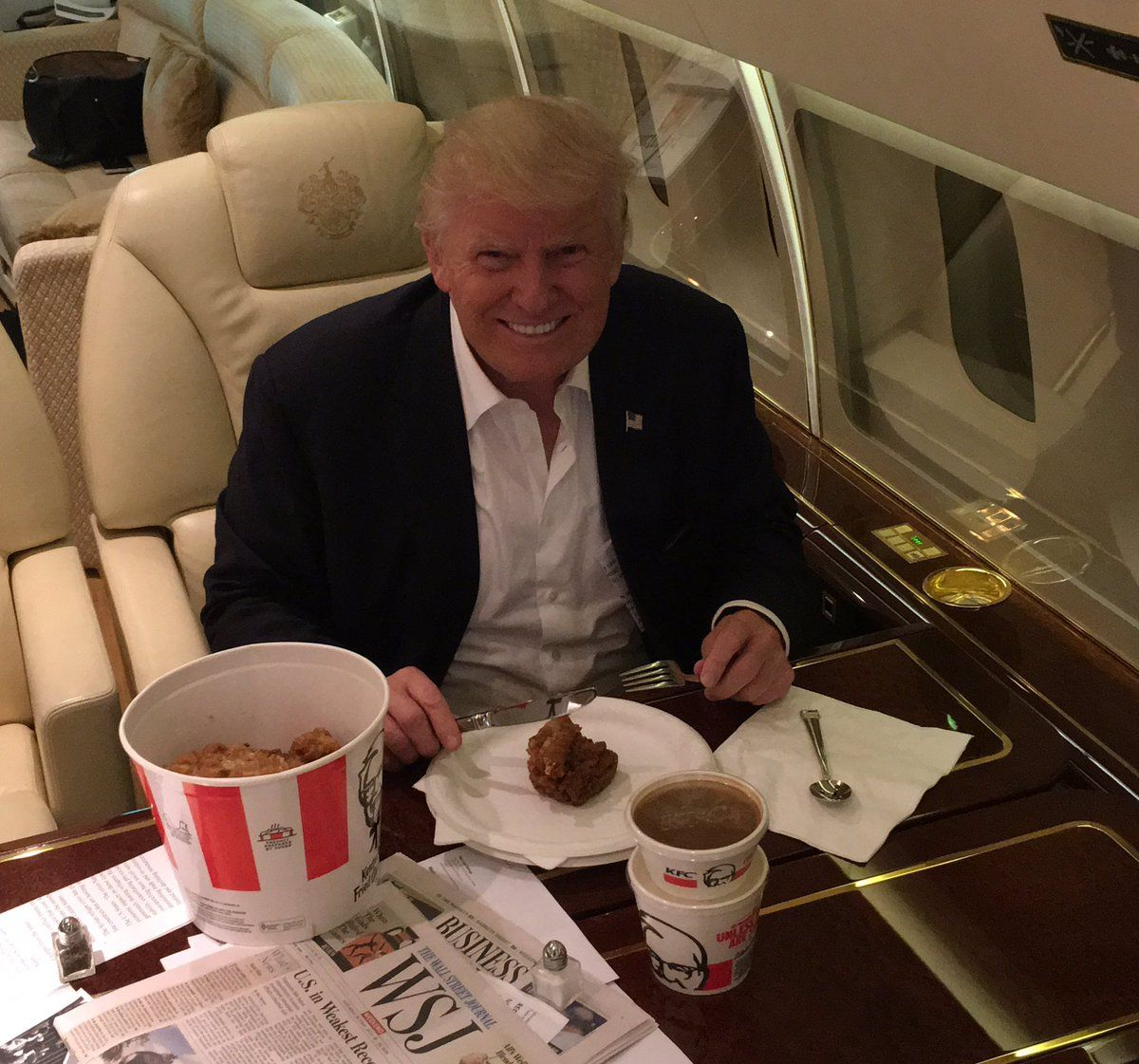Donald Trump eating KFC