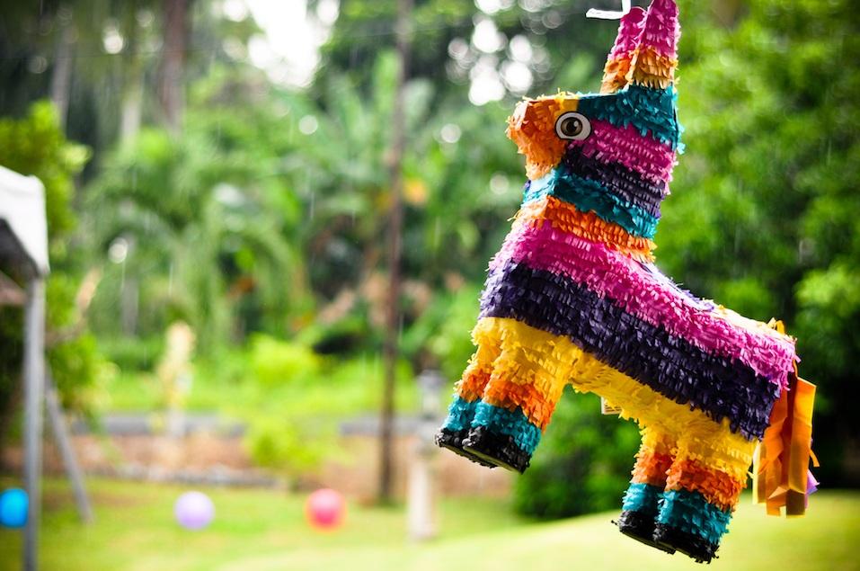 Colorful pinata donkey