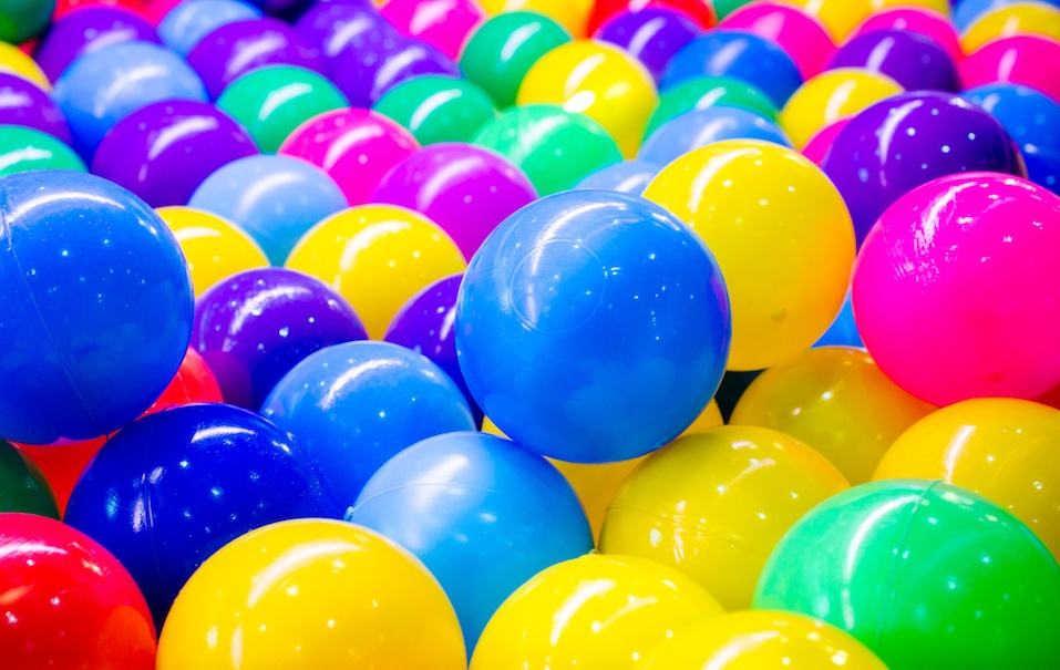 Colorful plastic balls for background