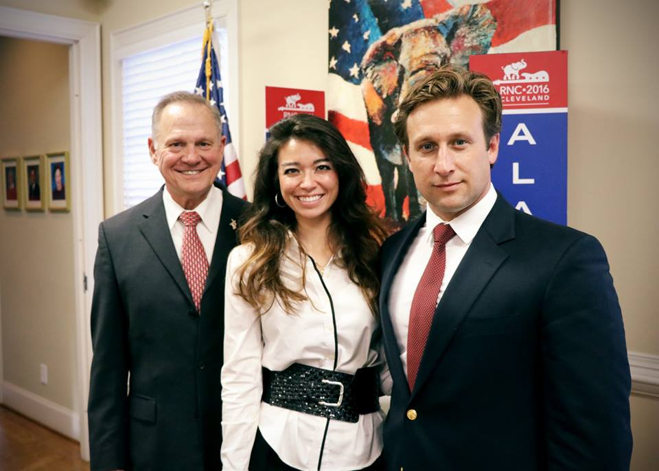 Courtland Sykes and Chanel Sykes with Roy Moore