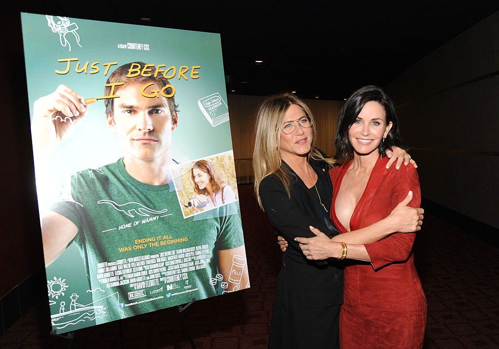 Jennifer Aniston and Courtney Cox at a screening