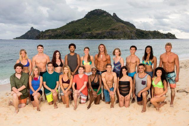 The cast of 'Survivor: Ghost Island' on the beach.