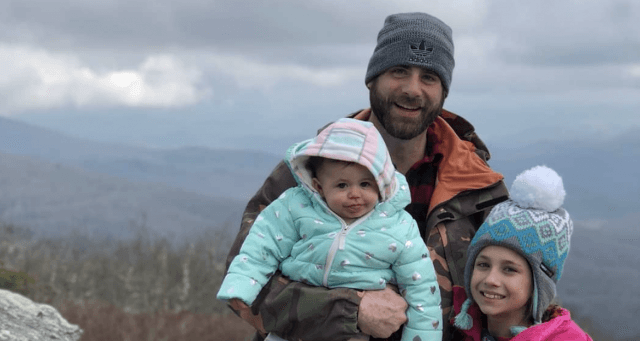 David Eason with his two children.